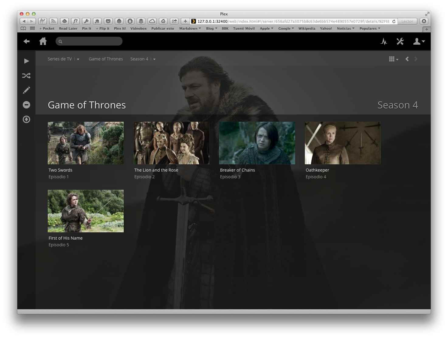Plex - Series TV - Game of Thrones - Season 4