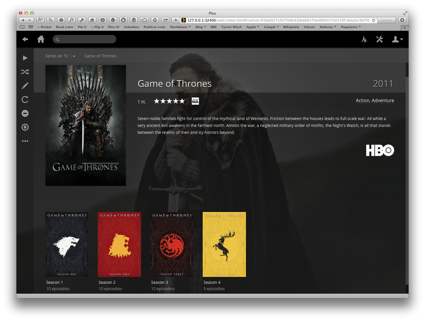 Plex - Series TV - Game of Thrones