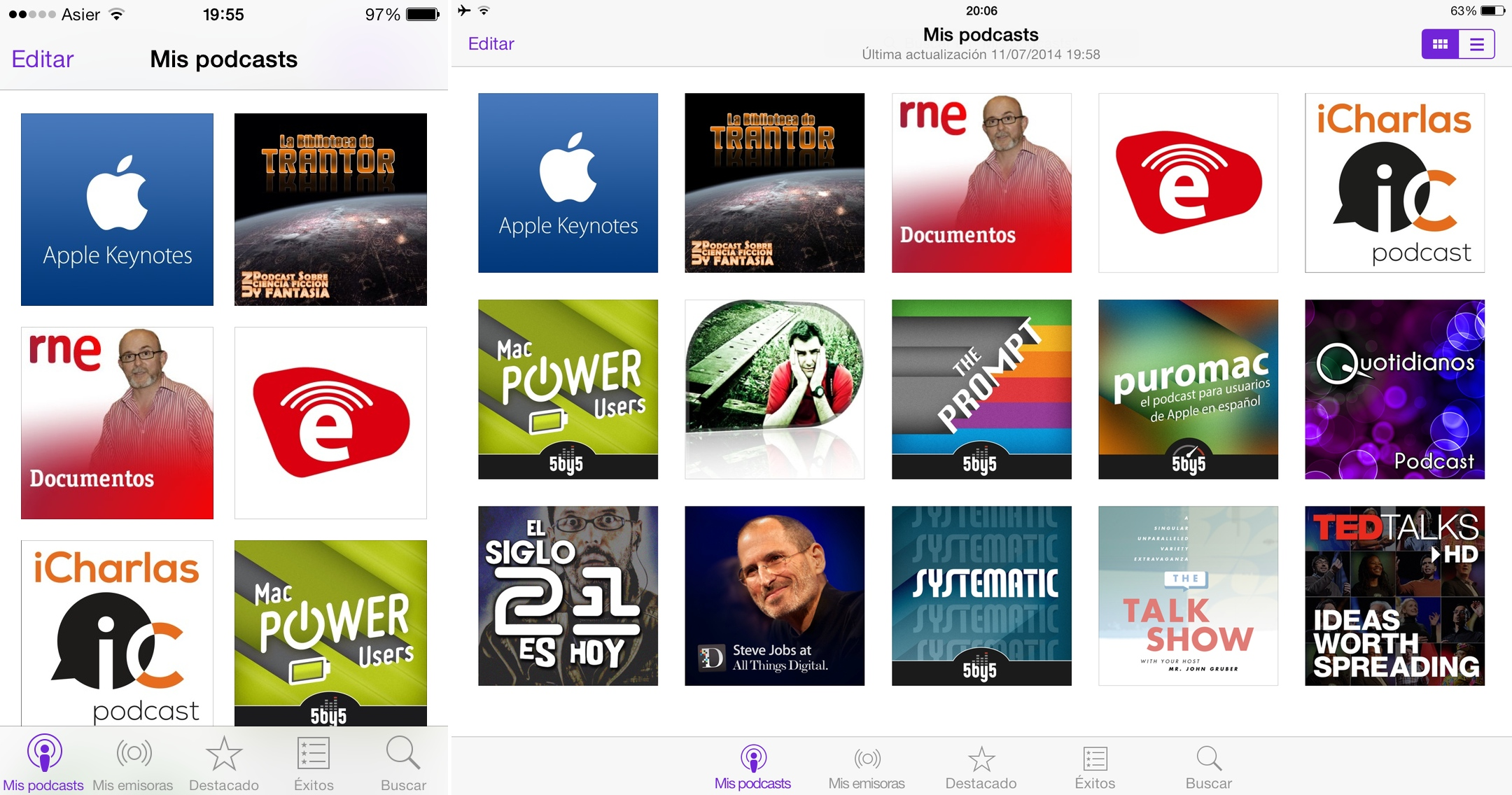 Podcasts, de Apple