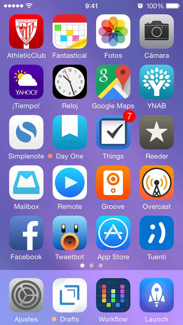 Mi homescreen — Febrero 2015