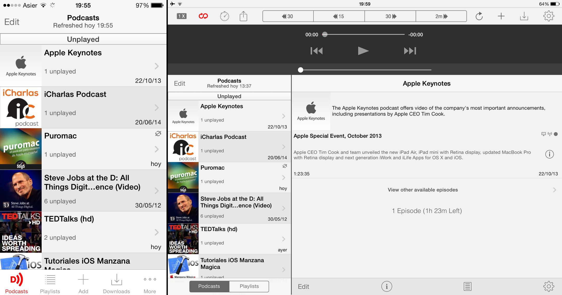Downcast para iOS