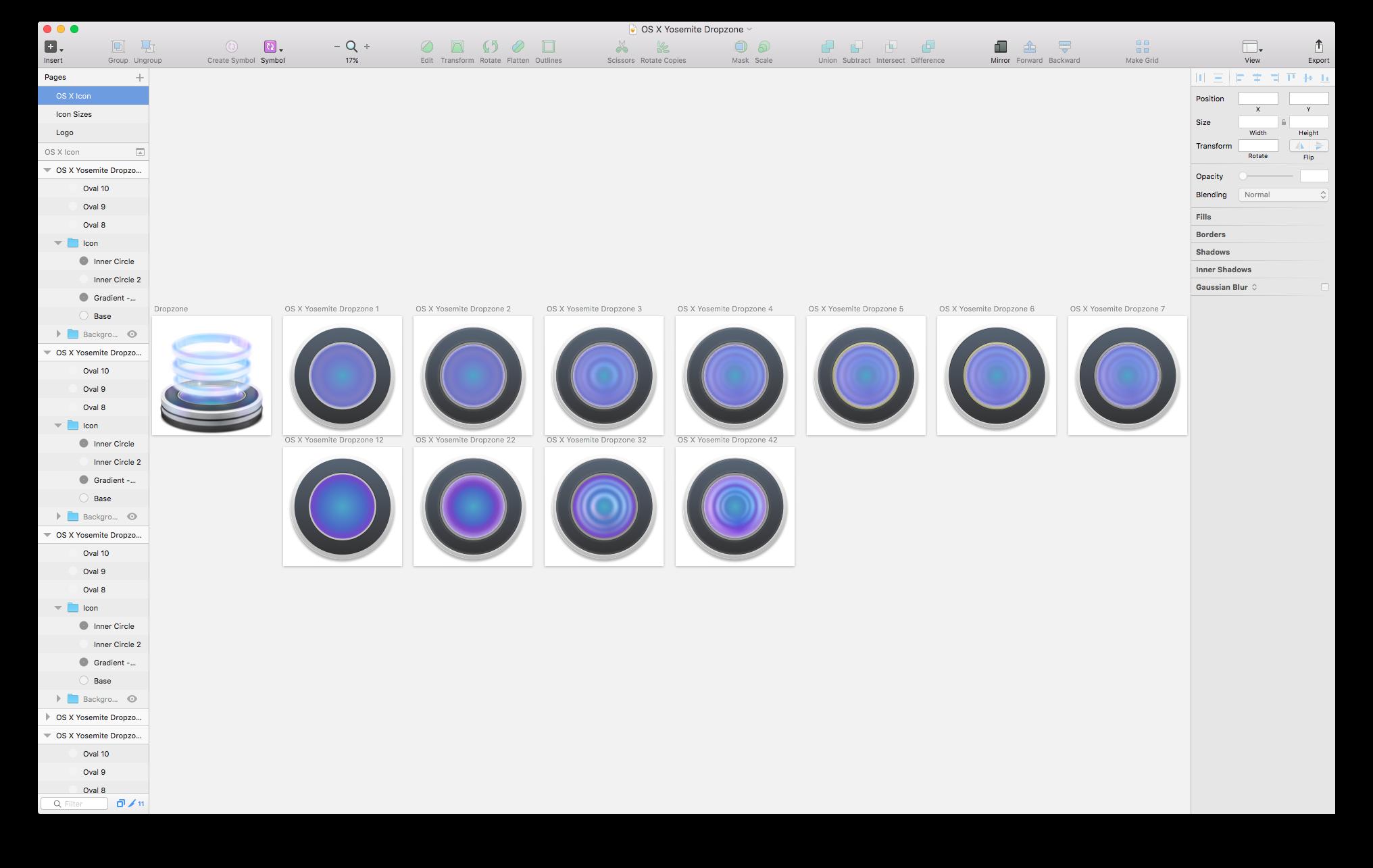 Proceso de diseño del nuevo icono de Dropzone